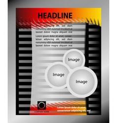 Design of the gray flyer with orange elemen vector