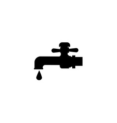 faucet icon black icon isolated on white vector image