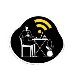 Free wifi - flat design style vector