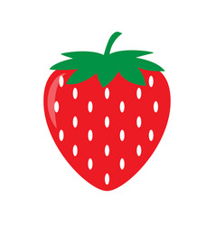 garden strawberry icon vector image