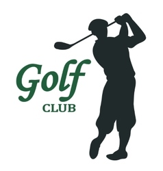 Golf club sign vector image