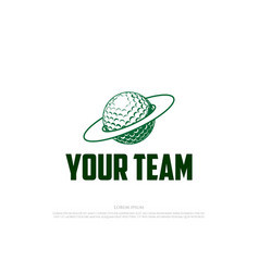 golf planet for sport club or store logo design vector image