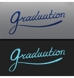 Graduation template Party Congrats vector image