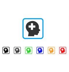 head medicine framed icon vector image