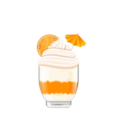 Icecream with Whipped Cream vector