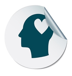 Icon head think silhoutte man and his mind about vector image