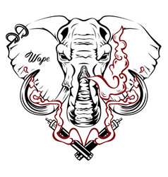 Image an elephant executed in form vector