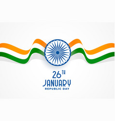 Indian republic day flag and chakra background vector