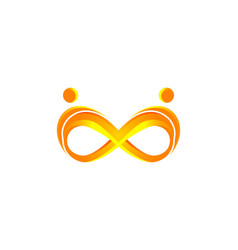 infinity and people logo designs inspiration vector image