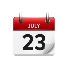 July 23 flat daily calendar icon Date vector