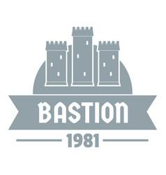 kingdom bastion logo simple gray style vector image