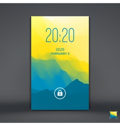 Lock Screen for Mobile Apps vector