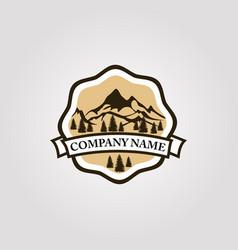logo mountain 03 vector image