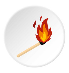 Match with fire icon circle vector