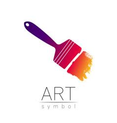 modern logo sign of drawing art paint brush vector image