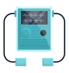 Monitor defibrillator icon cartoon style vector