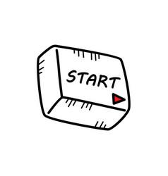 Multimedia media button icon doodle sketch cartoon vector