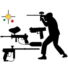paintball target vector image vector image