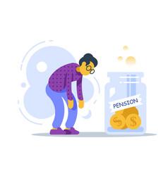 Pension fund program superannuation concept vector