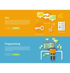 Programming and Seo Concept vector