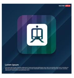 railroad track icon vector image