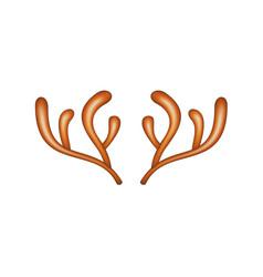 reindeer caribou in brown design vector image