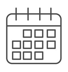 Reminder date calendar planning line icon design vector