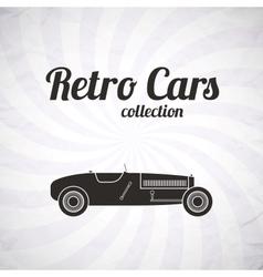 Retro sport racing car vintage collection vector