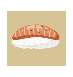 Salmon sushi icon cartoon style vector image