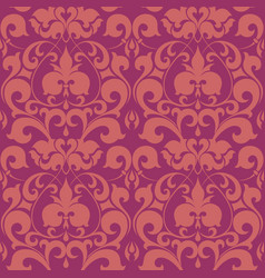 seamless floral damask pattern for wedding vector image