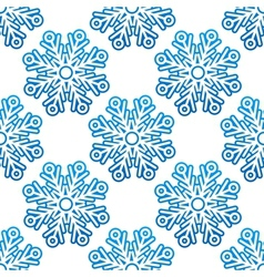 Seamless pattern background with snowflakes vector image