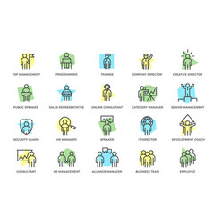 set of human resources and business vector image