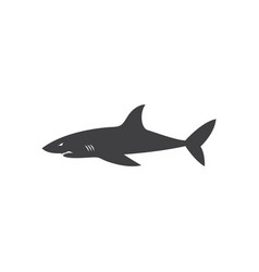 shark icon design template isolated vector image