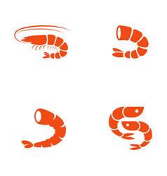 Shrimp icon vector
