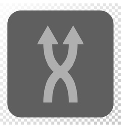 Shuffle Arrows Up Rounded Square Button vector