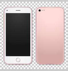 single pink mobile template with blank screen on vector image