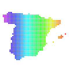 Spectrum dot spain map vector