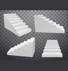 staircase 3d isolated construction interior vector image