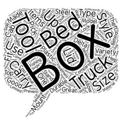 Styles of truck tool boxes text background vector
