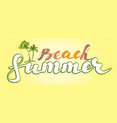 summer beach logo symbol vector image