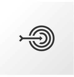 Target icon symbol premium quality isolated arrow vector