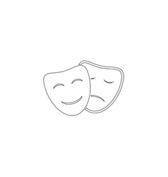 theater masks flat icon vector image