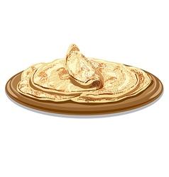 traditional pita bread vector image