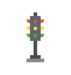 Traffic light transportation icon flat design vector