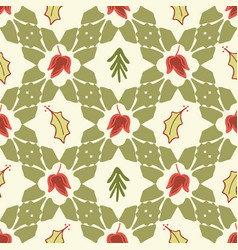 trendy festive xmas quilt seamless pattern vector image