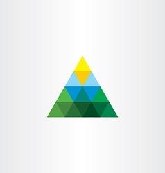 Triangle landscape logo mountain sun vector