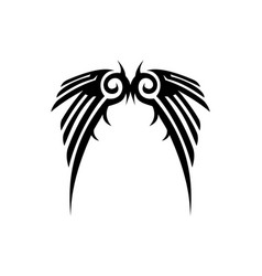 tribal wings logo icon vector image