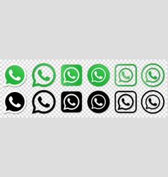Whatsapp logo set vector