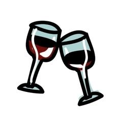 wine glasses cartoon icon image vector image