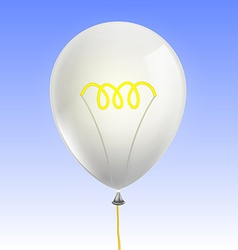 Balloon in the form of an incandescent lamp vector image vector image